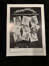 Star Wars 1977 Original Ad Slick Happy Holidays Rare!