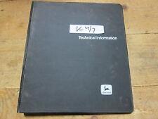 Used John Deere Technical Manual Tm-1339 for 1800 2300 3200 3200As Generators