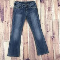 Silver Jeans Womens Size 27 Bootcut Suki Surplus Denim Bottoms