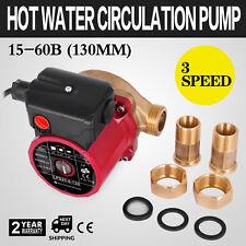 3 Speed Hot Water Circulation Pump 50l/min 6m 1 Inch Circulator Recirculating