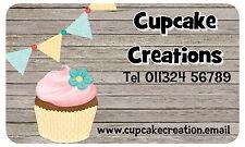 21 Pegatinas de negocios personalizados Brillo De Cupcake, Etiquetas