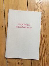 Lance Wyman / Eduardo Paolozzi Catalogue Metro: Art At Velocity Bloomberg