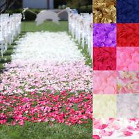Charm Lot 1000pcs pétales de rose tissu décoration fête mariage table baptême
