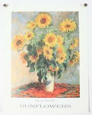 "Sunflowers Claude Monet Floral Art Print Poster 11"" X 14"" NOS"