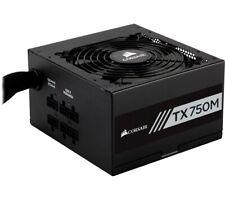 Corsair Tx750m Semi-modular ATX 750w Gaming PC Power Supply Unit 80plus Gold PSU