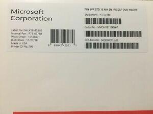 Windows Server 2019 Standard - New Sealed Key And DVD Box