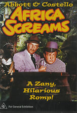 Abbott & Costello AFRICA SCREAMS *New & SEALED* ALL Regions (Plays on any Player