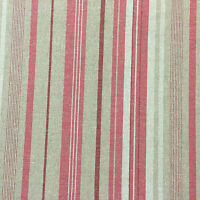 "French Weave  Linen Gucci Stripe red 280cm/108"" Wide Curtain Fabric"
