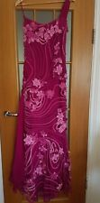 Valentino couture cerise pink tulle evening dress  satin floral size UK 6 8 Nic
