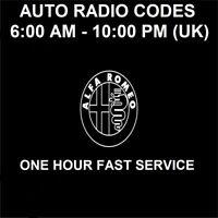 ALFA ROMEO BLAUPUNKT CAR RADIO UNLOCK CODE - FAST SERVICE