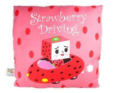 STRAWBERRY DRIVING TO-FU OYAKO DESIGNER PLUSH PILLOW CUSHION TOFU DEVILROBOTS