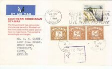 Rhodesia - Postage Rejected by British Postal Authorities due to UDI (02)