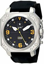 NEW Wrist Armor WA259 C4 Mens Official US Army Black Rubber Military Diver Watch