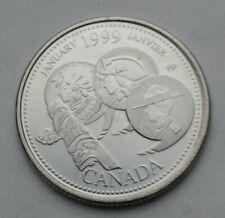 Canada 25 Cents 1999. Quarter dollar coin. Elizabeth II. January.