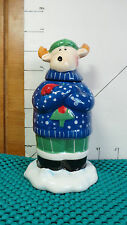 Reindeer Votive,Christmas, 2005, Elements Co., Ceramic, Home Decor, Collectible