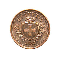 KM# 3.2 - 1 Rappen - Switzerland 1932B (VF)