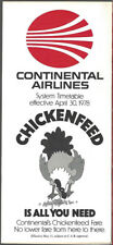 Continental Airlines system timetable 4/30/78 [8102]