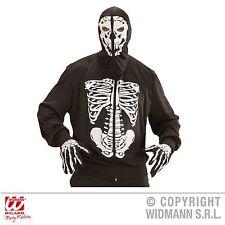 Skelett Jacke Herren Kostüm Jacke m Knochenaufdruck Totenkopf Halloween Karneval