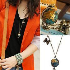 Long Chain Globe Telescope Pendant Necklace Sweater Chain Accessories Gift
