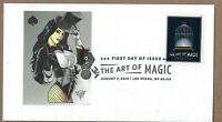 Art of magic FDC. Female Magician Pinup. Vanishing Bird in Cage. USPS.