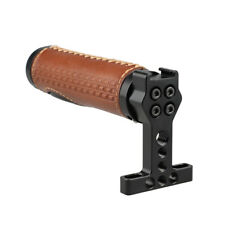 CAMVATE DSLR Top Handle Leather Grip Aluminum Shoe Mount Rig for Camera Cage Kit