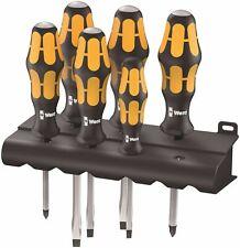 Wera 932/6 Kraftform Chiseldriver Screwdriver Set With Rack 05018282001