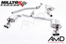 Milltek Audi A5 Coupe S Line 2.0 TFSI Auspuff Cat Rücken Quad Outlet 2008 bis 2014