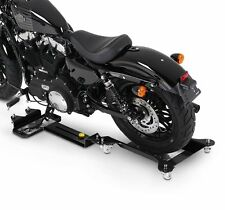 Motorcycle Garage Wheel Skate ConStands M3 black Rail Platform Motorbike