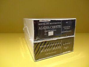 Montblanc Limited Edition Agatha Christie Set Fountain Ballpoint Pencil Sealed