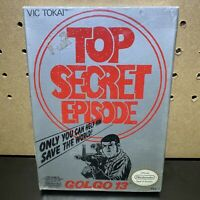 Golgo 13: Top Secret Episode Original Nintendo NES SEALED H Seam Brand New
