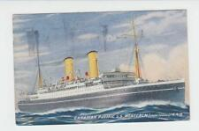 1925 SS MONTCALM COLOR POST CARD, QUEBEC TO WINNIPEG NO STAMP (SEE BELOW)