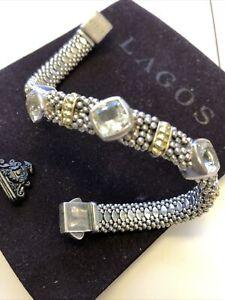 Lagos Caviar Bracelet White Topaz
