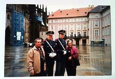 Vintage Photography COLOR PHOTO ASIAN HUSBAND & WIFE WITH GERMAN GUARDS VACATION