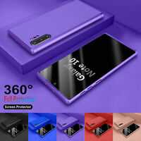 For Samsung Galaxy Note 10 Plus + 360° Shockproof Case Cover + Tempered Glass
