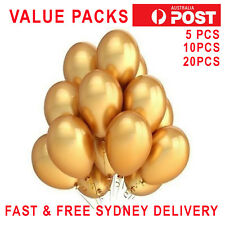 GOLD CHROME METALLIC BALLOONS PEARL SHINEY PARTY WEDDING FAST SHIP 6 COLOURS