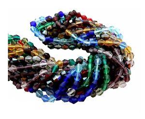 500 Preciosa Czech Glass 5mm Bicone Fire Polished Assorted Color Bulk Beads