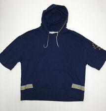 💙Victorias Secret PINK Campus Graphic Navy Oversized Sweater Size XL