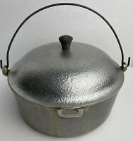 Vintage Club Hammered Heavy Aluminum Dutch Oven Stock Pot 4.5 Quart with Lid