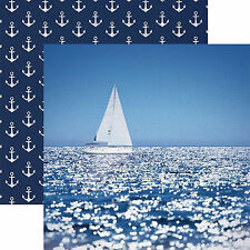 Paper House SAILING AWAY 12x12 Dbl-Sided Scrapbooking (2pc) Paper P-2014