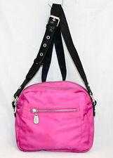 BAGGALLINI Pink Nylon Crossbody Bag Pink Fuchsia 2 Compartments