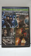 * Doom + Pitch Black + Serenity + Hellboy Ii - 4-Film Pack (Dvd) - Ships Free!