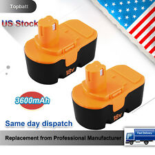 18V 3.6Ah for Ryobi Battery Replacement ONE+ P100 P107 P108 P122 P104 P105 2Pack