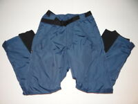 COLUMBIA mens Warm Insulated Nylon Ski Snow Pants BLUE Small