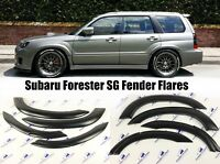 Subaru Forester Fender Flares Wheel Arch Protector Extensions Trim Kit 6 PCS