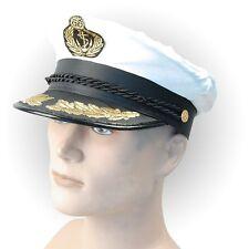 Captain's Cap Deluxe Navy Sea Adult Fancy Dress Accessory
