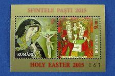 Rumänien Romania 2015 Ostern Easter Gemälde Block 619 + Goldreplik Auflage 365