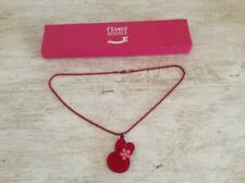 FRANKIE DOODLE..RED ACRYLIC RABBIT / BUNNY NECKLACE..NEW WITH BOX.