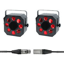 2x Equinox Shard 60W High Output RGBW Moonflower Disco Lighting DJ in DMX Cable
