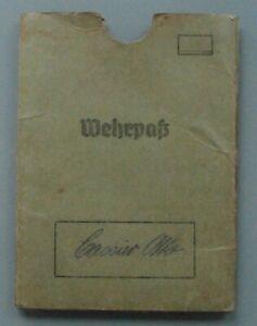 Original alte Wehrpaß - Hülle - 2. WK