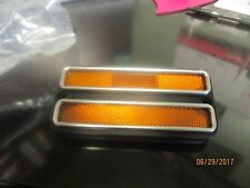 Amber Front Side Marker Lamp Chevy GMC Suburban Blazer Truck  Chrome Trim 68-72
